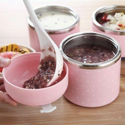 Portable Stainless Lunch Box Steel Thermal Food Container Box