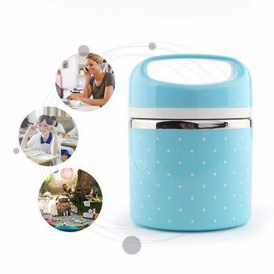 Portable Stainless Lunch Steel Thermal Insulated Food Container Box US