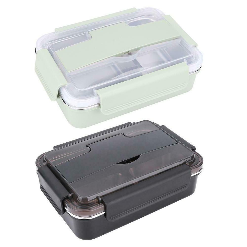 Portable Stainless Steel Bento Lunch Box Leak-Proof School F