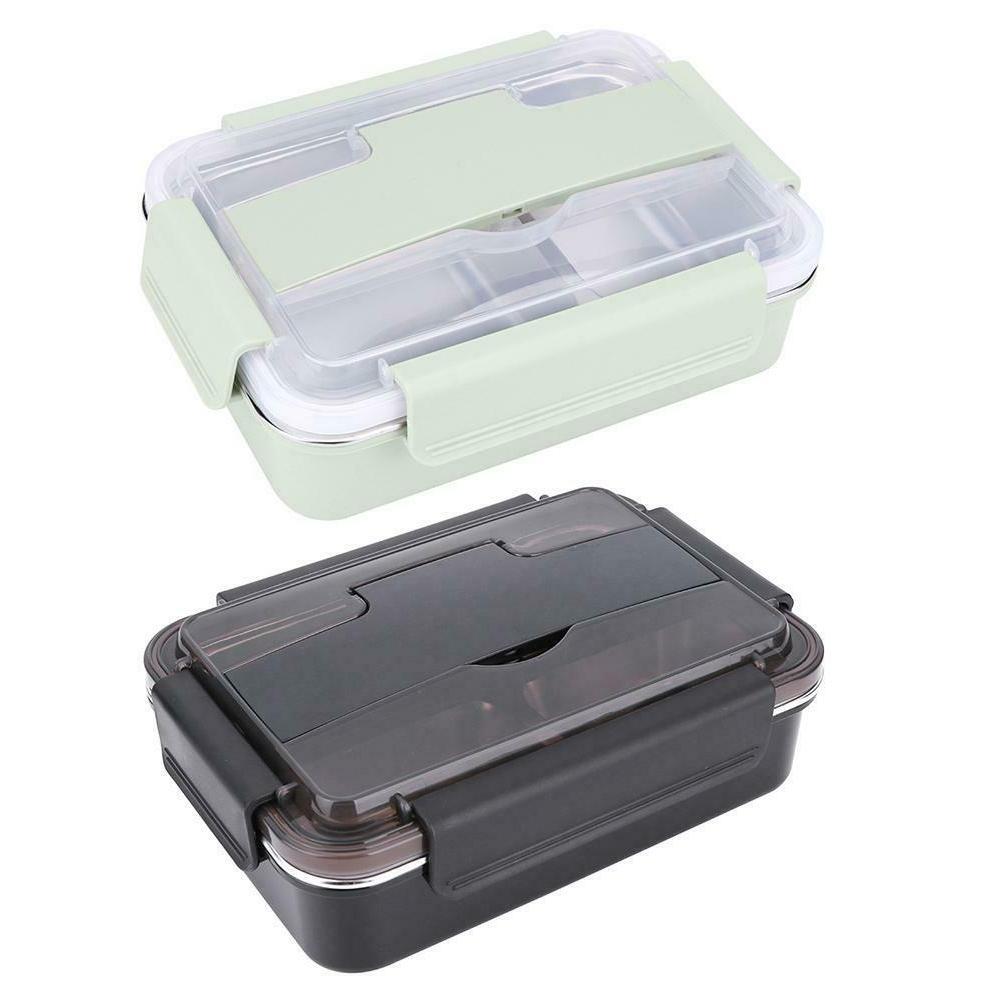 Portable Metal Bento Lunch Box +Spoon Utensils Picnic Food C