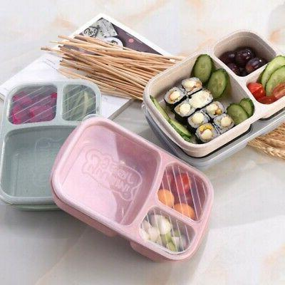 USA Plastic Lunch Box Food Container Set Bento Lunch Boxes W