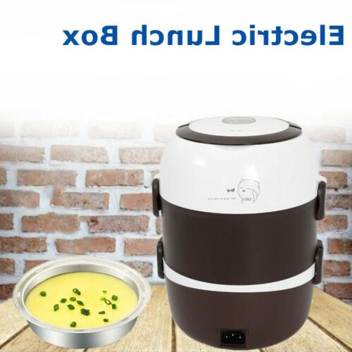 2l 3 layer electric lunch box steamer