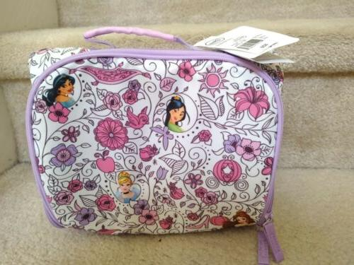 Disney Jasmine Purple White Lunchbox
