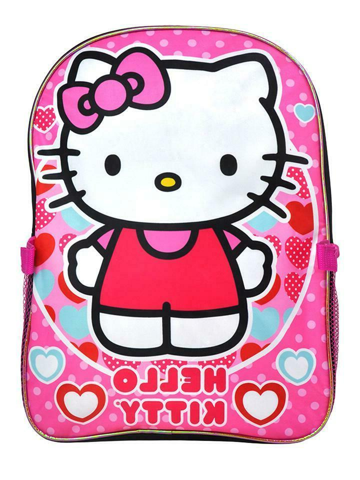 Hello School Backpack Lunch Girls Cute Sanrio