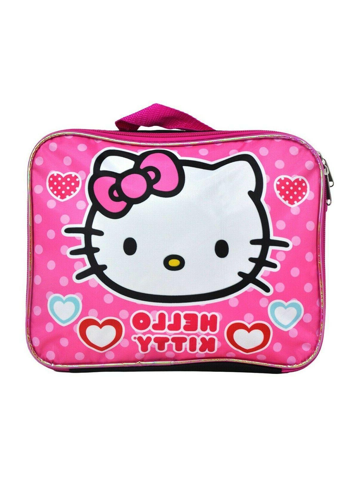 Hello Backpack Lunch Box Little Girls Black Sanrio