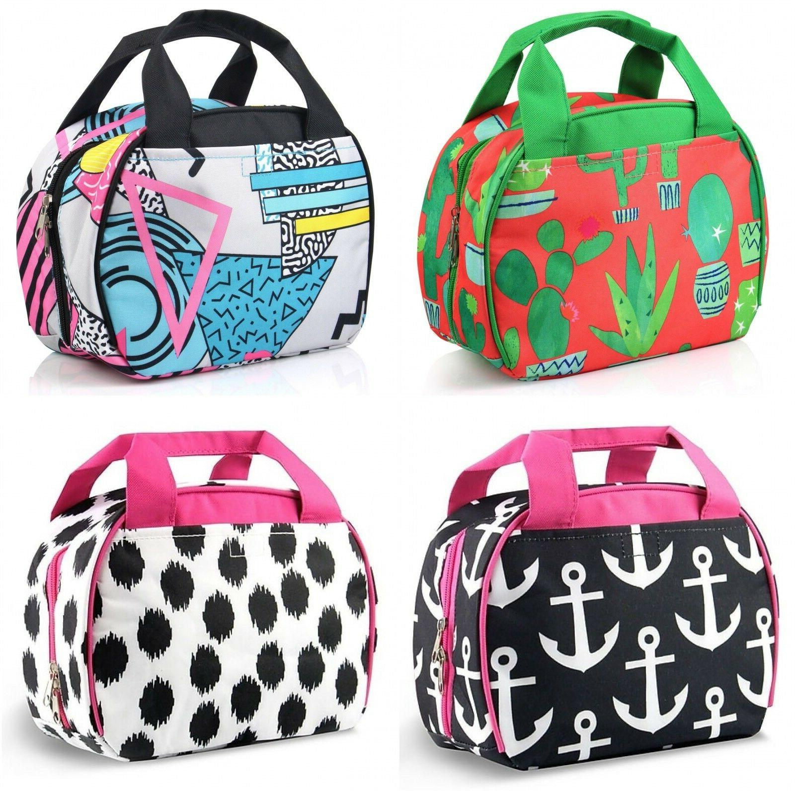 small nylon insulated lunch tote bag thermal