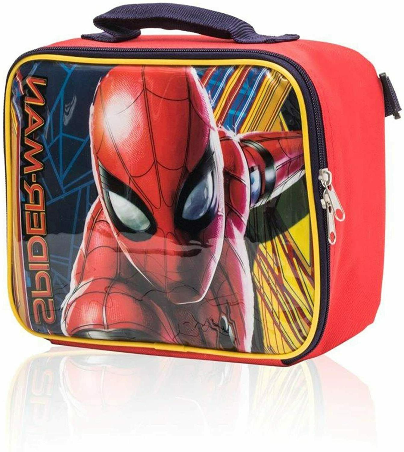 Marvel Spiderman Backpack Detachable Lunch Box 2 Piece - 16""