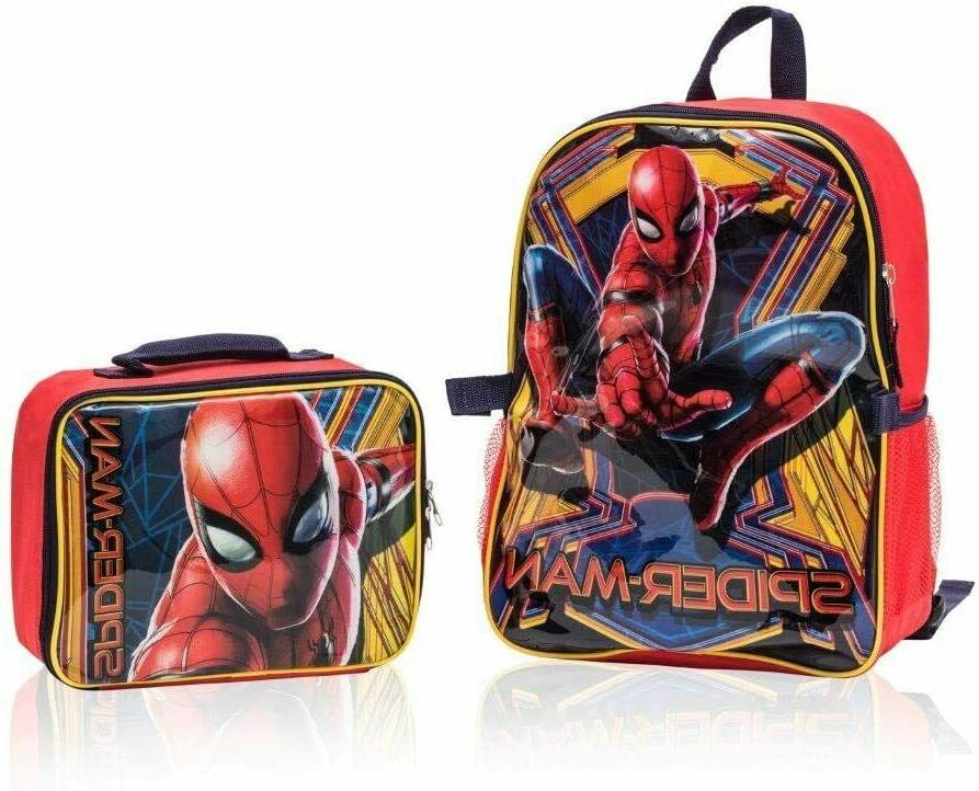 spiderman backpack with detachable lunch box 2