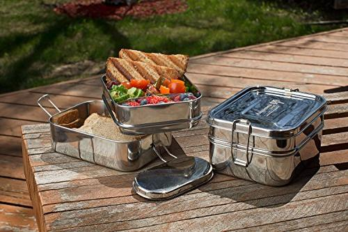 Stainless 3-in-1 Lunch LIFE-TIME WARRANTY | 6 + BONUS | Stainless Steel & Healthy | both Kids