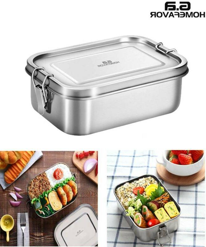 Stainless Lunch Food Food Storage Picnic Container US