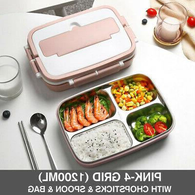 Stainless Thermos Lunch Box Handle Kids Men Women