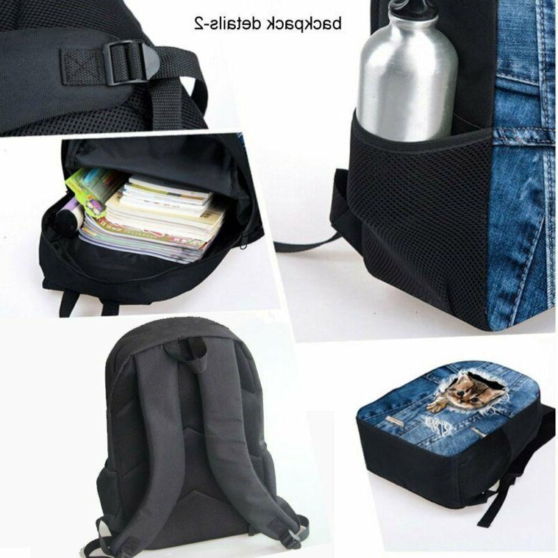 HUGS IDEA T-rex Dinosaur Backpack Teen Book bag with Box Pen