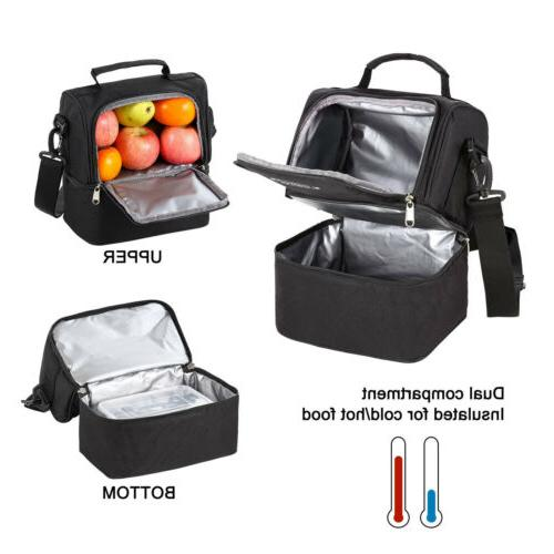 Large Portable Insulated Food Lunch Box Thermos Cooler Tote