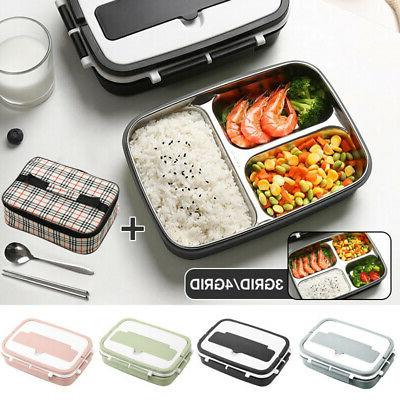 Thermos Food Container Handle Kids Men Stainless Steel