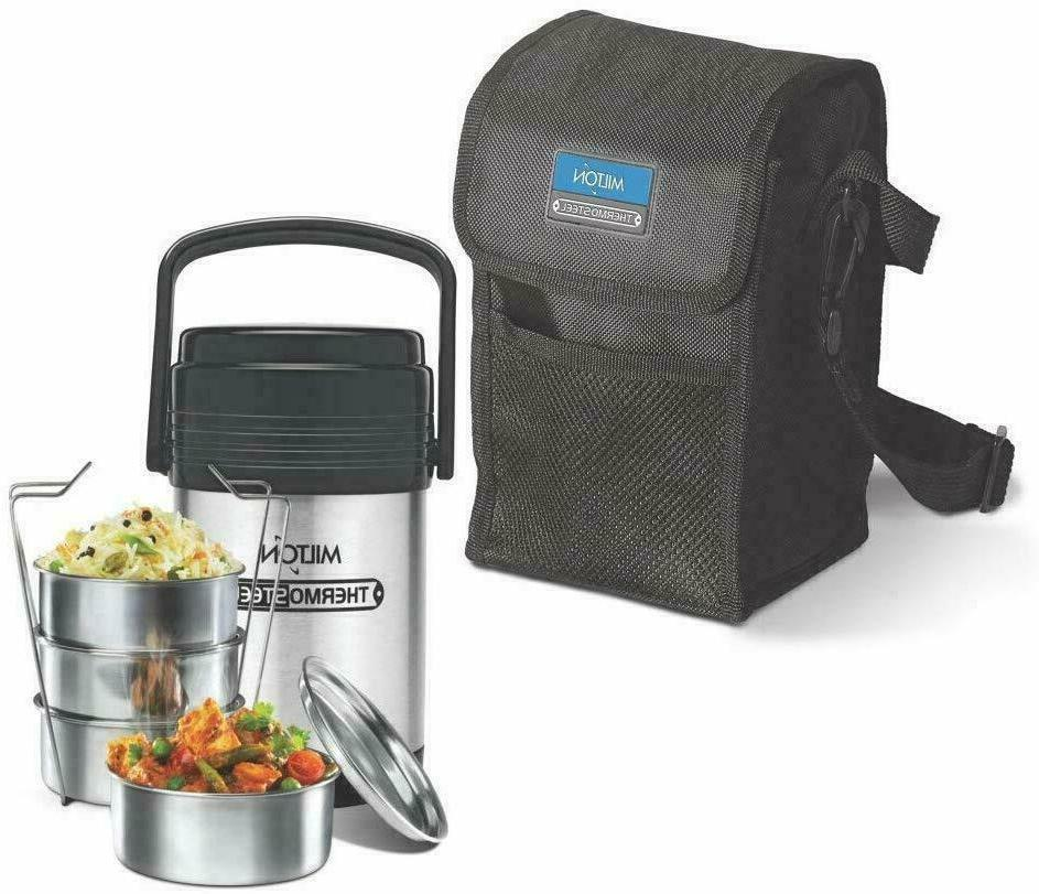 thermosteel hot office lunch box 4 steel