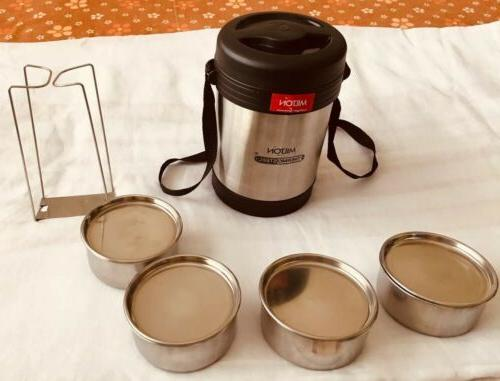 Milton Thermosteel Insulated Tiffin/Lunch Box 4 FreeShip USA