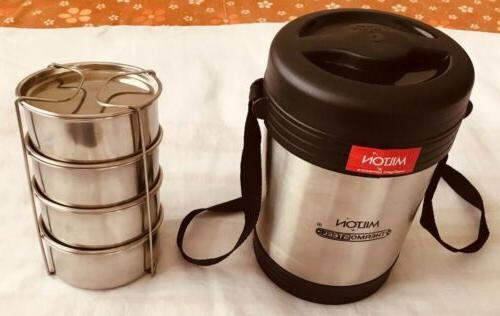 Milton Thermosteel Tiffin/Lunch Box 4 Containers FreeShip in