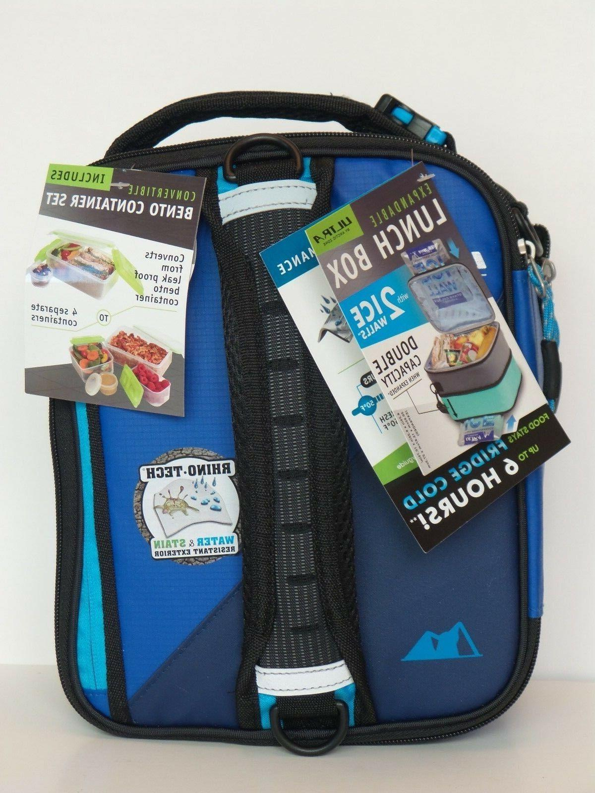 ultra expandable lunch box 2 ice packs