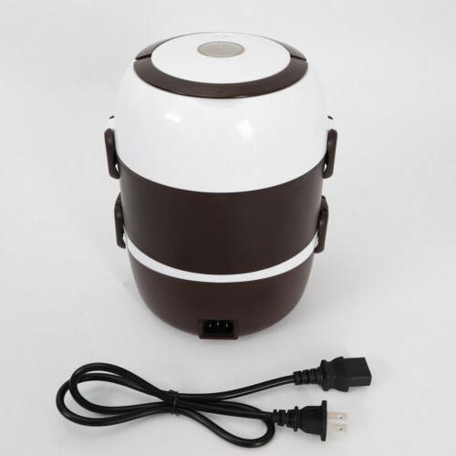 2L 3 Layer Lunch Box Pot Rice Stainless Inner Pot