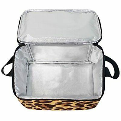 Use4 Leopard Print Animal Bag Tote Cooler Lunchbox