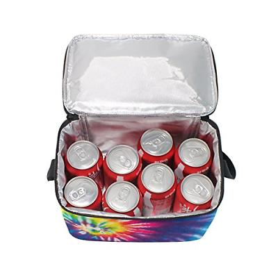 Use4 Swirl Tie Colorful Insulated Tote Bag Cooler Lunchbox for