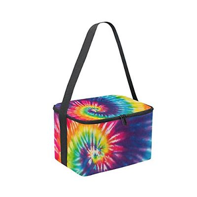 Use4 Swirl Tie Colorful Insulated Tote Bag Lunchbox for