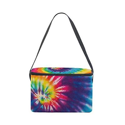 Use4 Swirl Colorful Lunch Bag Tote Bag Cooler for Men