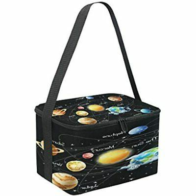 Use4 Galaxy System Black Insulated Lunch Bag Tote