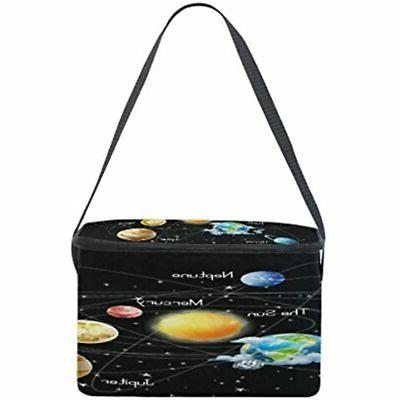 Use4 Solar System Black Insulated Bag Lunchbox
