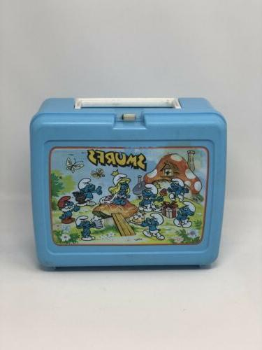 vintage smurfs lunchbox by 1980s school lunch