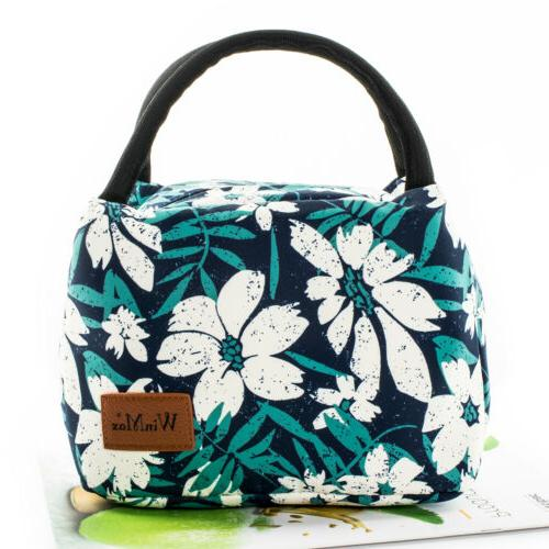 Women Men Insulated Lunch Box Thermal Cooler Tote Food Lunch