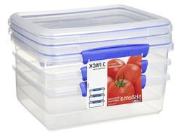Sistema LARGE Sandwich Box Lunchbox Food Plastic Storage Con