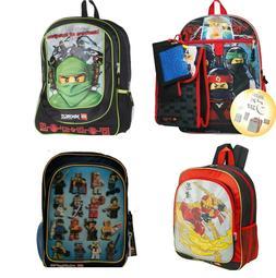 Lego Ninjago Minifigure Boys Backpack Bookbag Lunch Box Scho