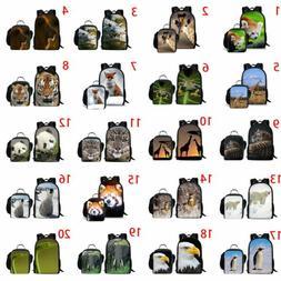 Lesser Pan Eagle Tiger School Bag Boys Girls Backpack Lunch