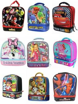 Little Boys & Girls Dual Insulated School Lunch Box Snack Ba