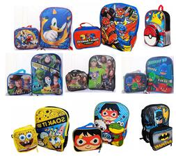 Little Boys School Backpack Lunch box Set Cartoon Book Bag K