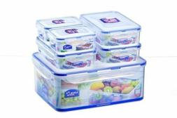 Lock & and Lock Container Set 6 Piece Plastic Food Lunch Cak