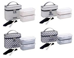 Lock & Lock Clover Lunch Box Sets Office, Jumbo and Bag HPL7