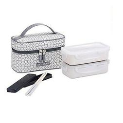 Lock & Lock Clover Lunch Box Sets Office Jumbo with Bag HPL7