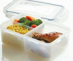 Lock & Lock Divided Rectangular Lunch Box Food Storage Conta
