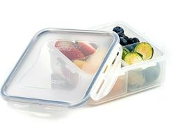 Lock & Lock Divided Square Lunch Snack Box Food Storage Cont