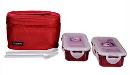 LOCK & LOCK LUNCH BOX BAG SET INSULATED 5 PC CONTAINERS NEW