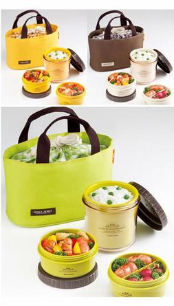 Lock & Lock NEW Bento Lunch Box Set Eco Life 3 Round Contain