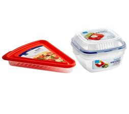 Lock & Lock Pizza Container and Salad Lunch Box 14oz / 32oz