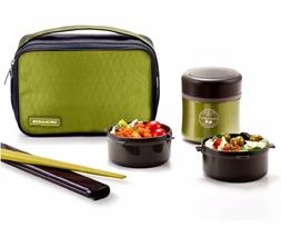 Lock & Lock Stainless Steel Insulated Lunch Box 12oz and Gre