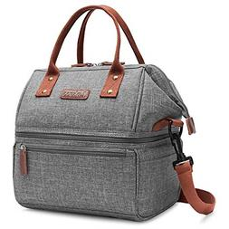 Lokass Lunch Bags for Women Wide Open Insulated Lunch Box Wi