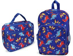 Boys and Girls Kids Lunch Box and Backpack School Book Bag S