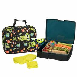 Bentology Lunch Bag and Box Set for Boys - Includes Insulate