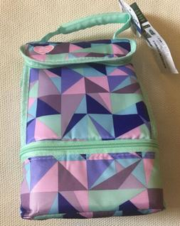 Lunch Bag Box Thermal Insulated 2 Compartments Microban Arct
