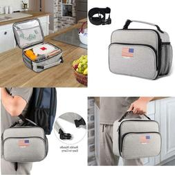 Lunch Bags Insulated Lunch Box: Waterproof Square Freezer Lu